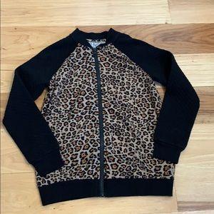 Girls Leopard Print Jacket
